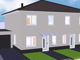 Doppelhaus.Massivbau-Frontalansicht-Wacker-Immobilien-Bauträger-GmbH