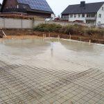 Bodenplatte-Betonierung